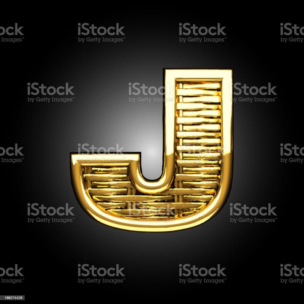 Vector golden figure j royalty-free stock vector art