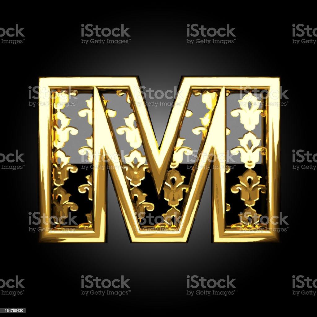 Vector golden figure m royalty-free stock vector art
