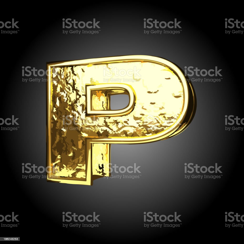 Vector golden figure p royalty-free stock vector art
