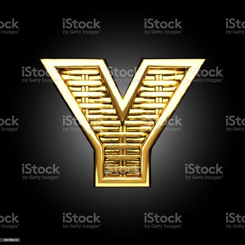Vector golden figure y royalty-free stock vector art