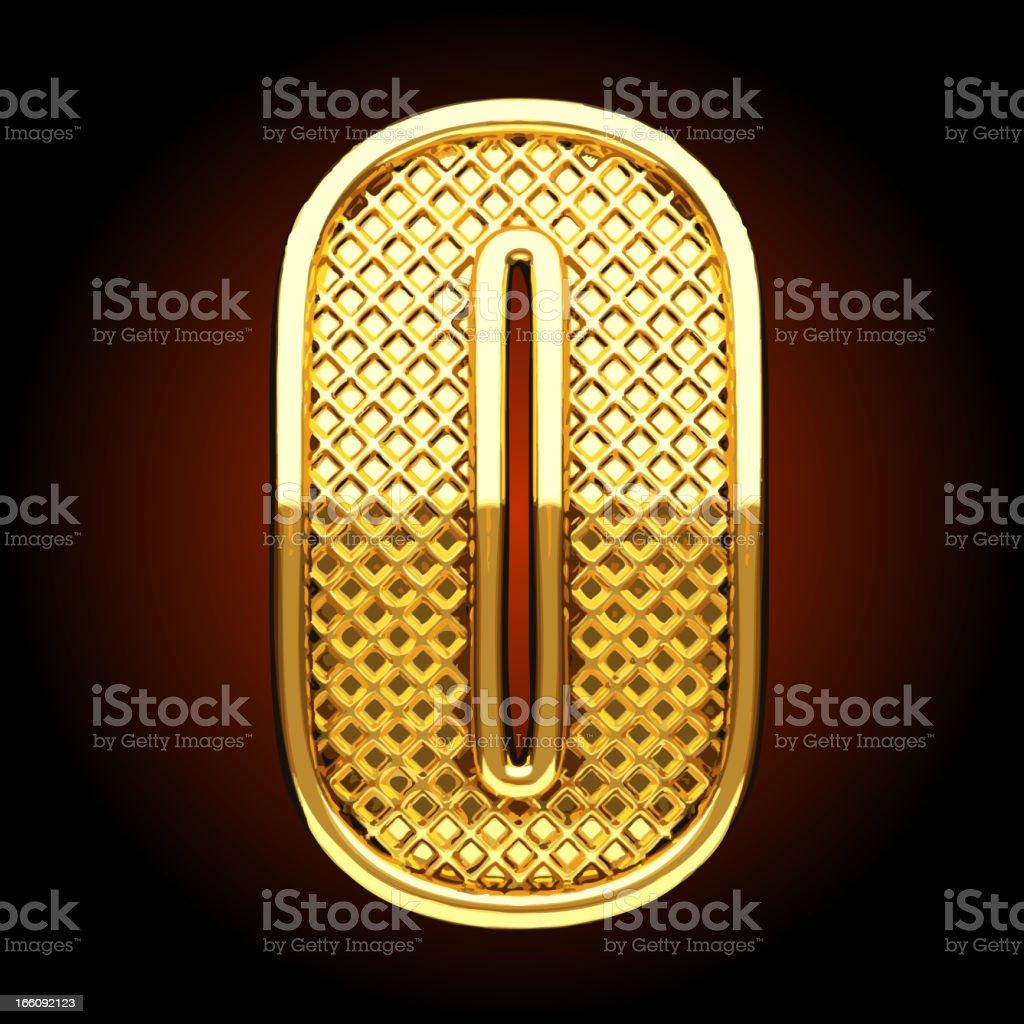 Vector golden letter O royalty-free stock vector art