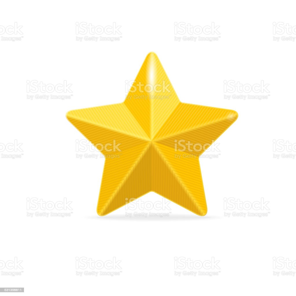 vector Golden star isolated on white vector art illustration