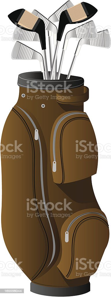 Vector Golf Bag and Clubs royalty-free stock vector art
