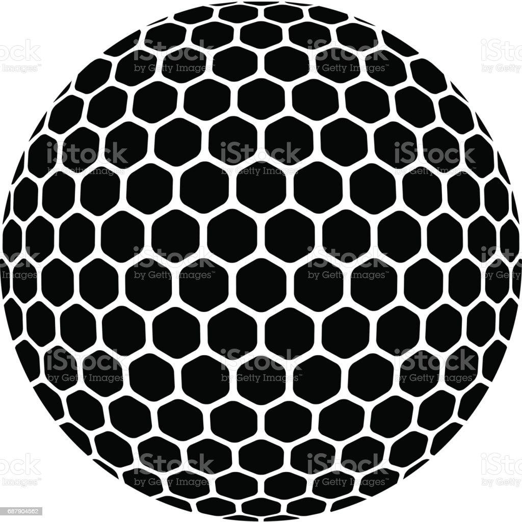 vector golf ball vector art illustration