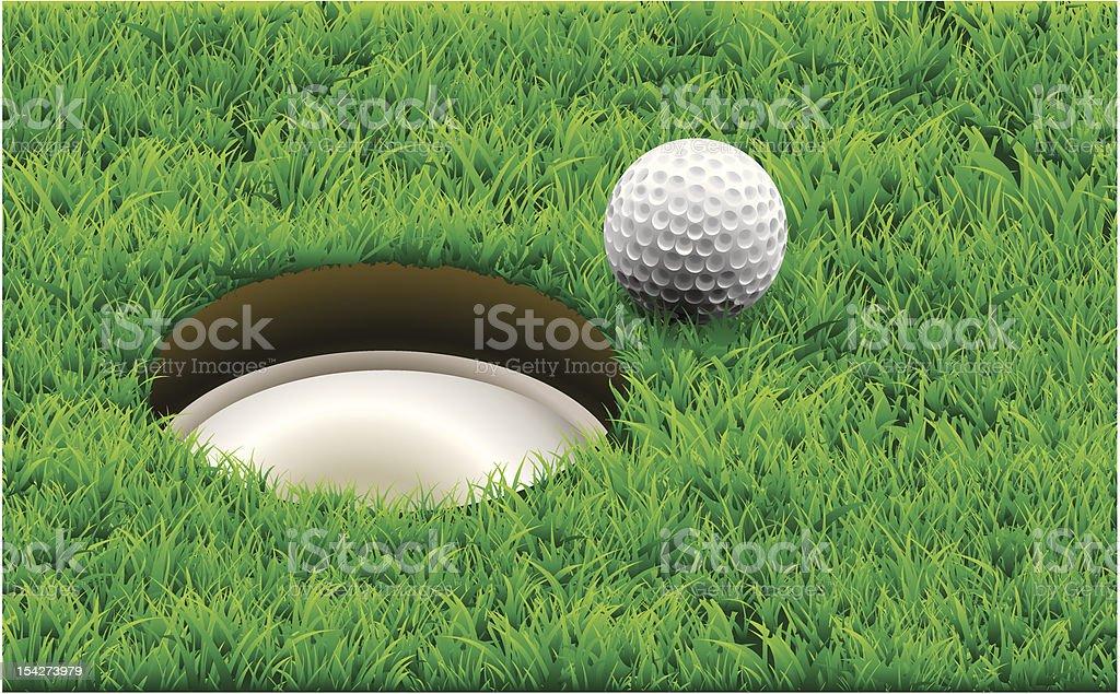 Vector. Golf, destiny. vector art illustration