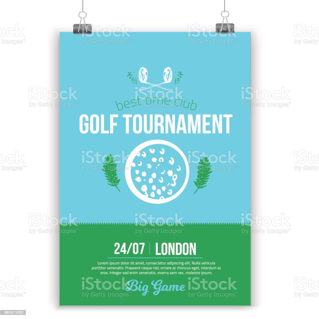 Graphic design poster 101 - Poster Design 101 Vector Golf Poster Design With Flat Elements Template For Sport Flyer Competition