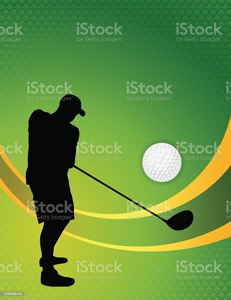 Vector Golf Theme Background Illustration vector art illustration