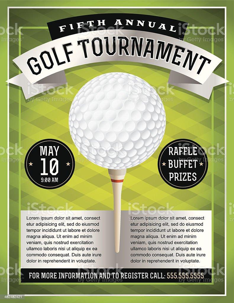 Vector Golf Tournament Flyer vector art illustration