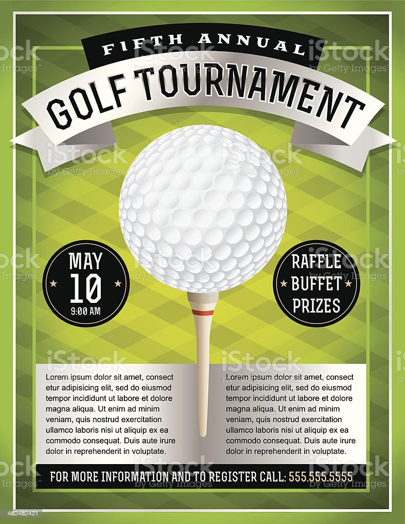 Vector Golf Tournament Flyer vector art illustration