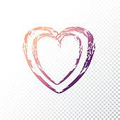 Vector gradient heart