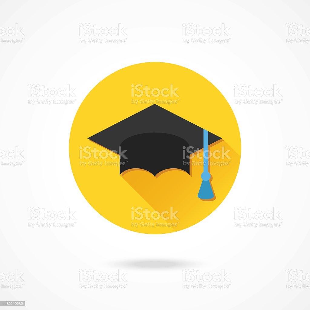 Vector Graduation Cap Icon vector art illustration