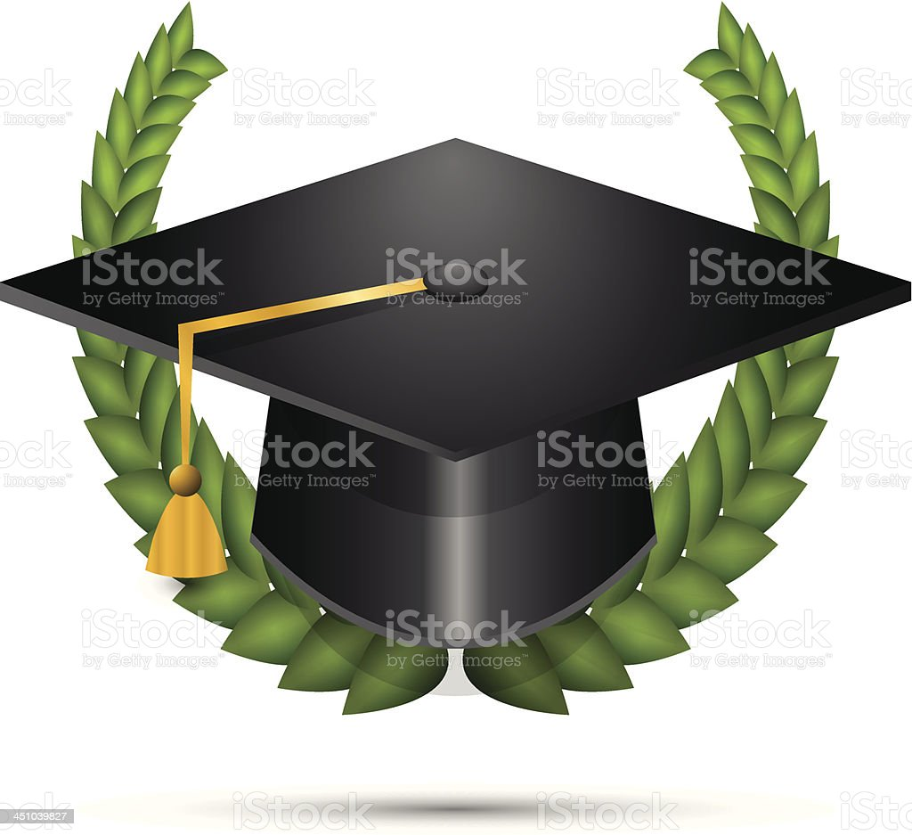 Vector graduation hat royalty-free stock vector art