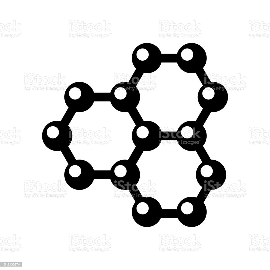 Vector graphene structure icon vector art illustration