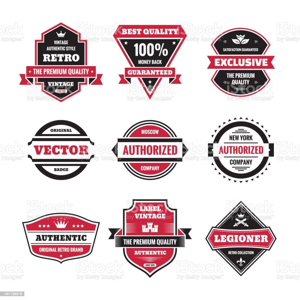 Vector graphic badges collection. Original vintage badges. vector art illustration