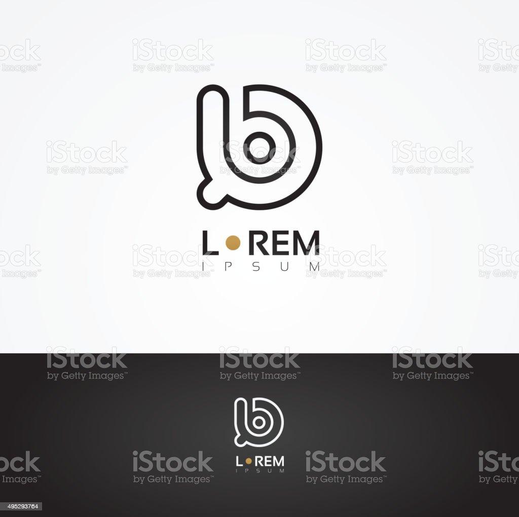 Vector graphic decorative design alphabet / letter B vector art illustration