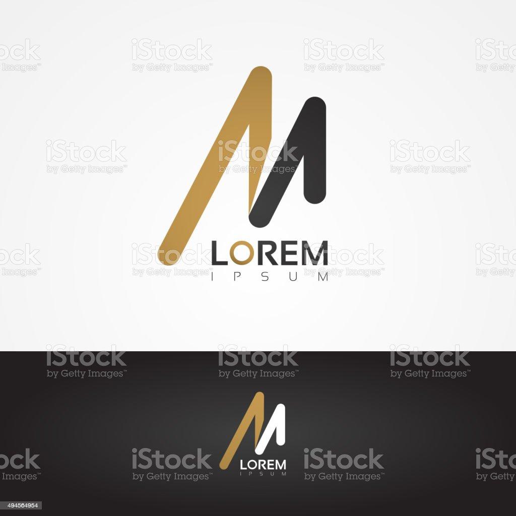 Vector graphic design element - M letter vector art illustration