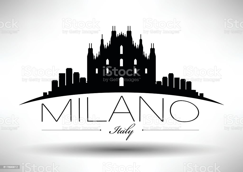 Vector Graphic Design of Milano City Skyline vector art illustration