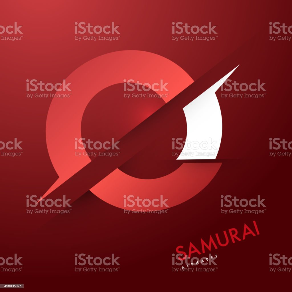 Vector graphic elegant and unique sliced alphabet vector art illustration
