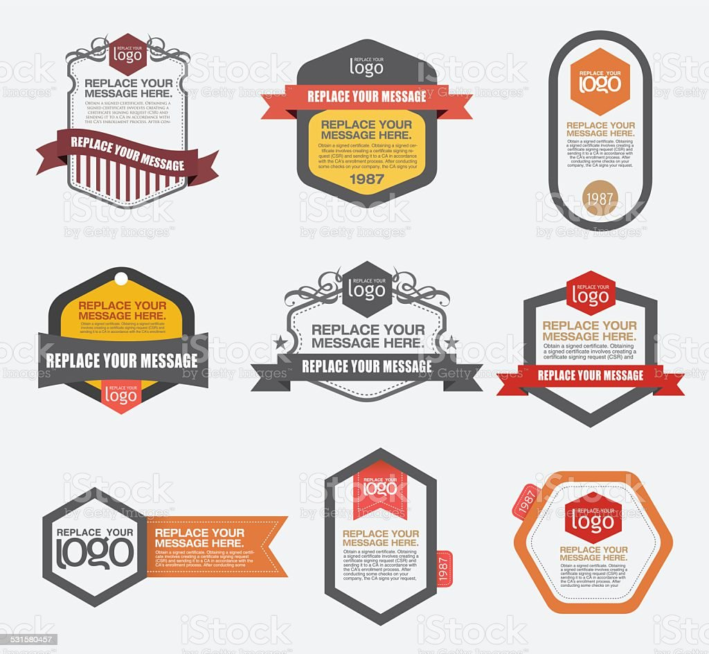 Vector graphic elements. vector art illustration
