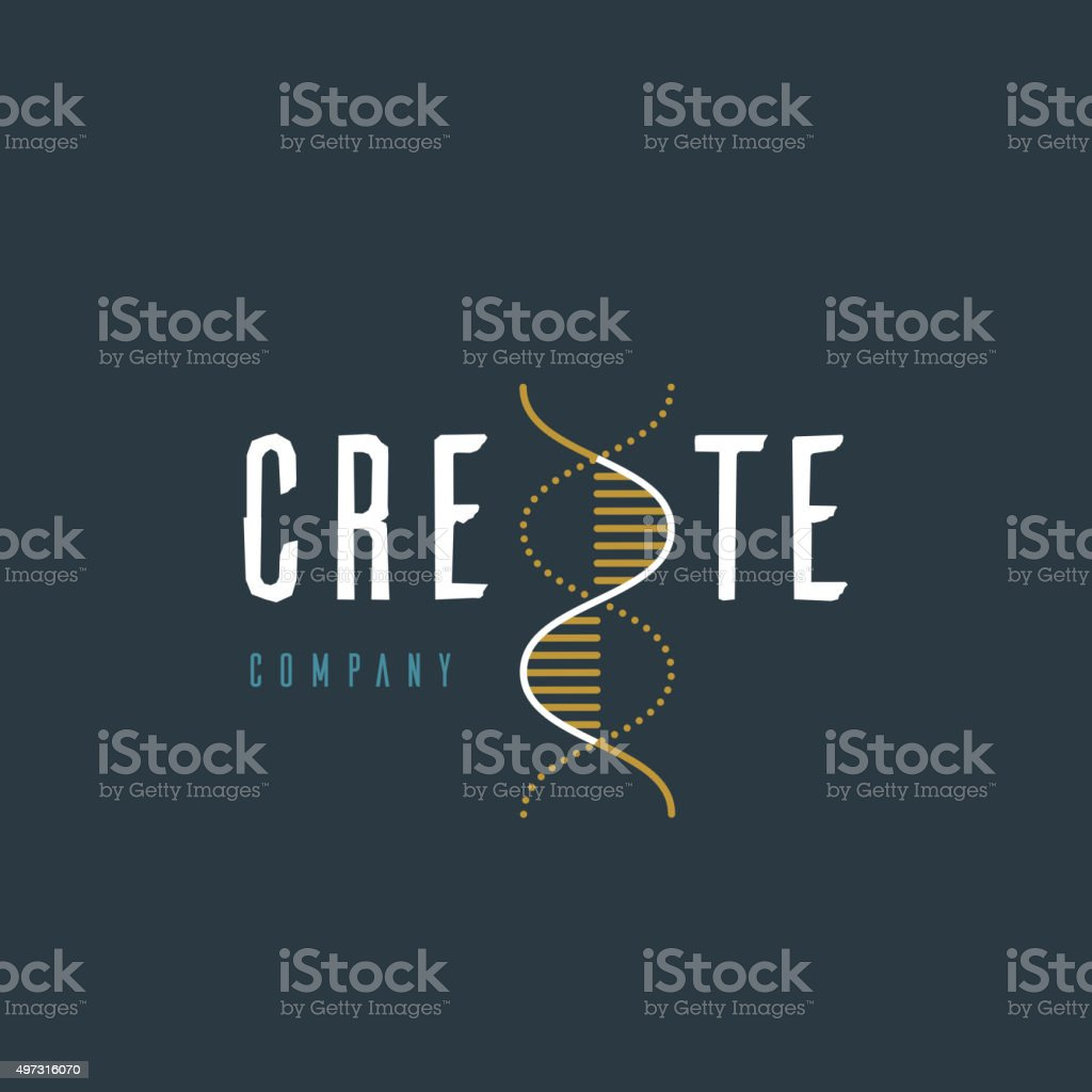 Vector graphic illustration of a DNA symbol vector art illustration