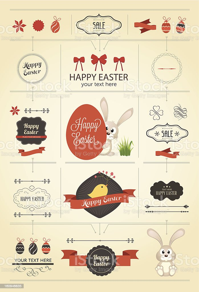 Vector graphic images of Easter Icons royalty-free stock vector art