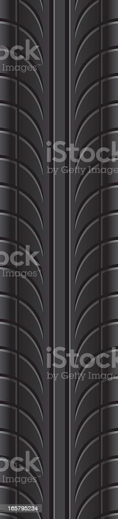 Vector graphic of repeating tire tread pattern royalty-free stock vector art