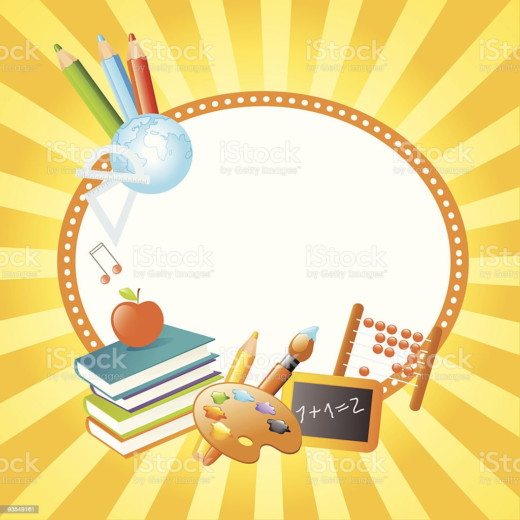 Vector graphic template for a school banner royalty-free stock vector art