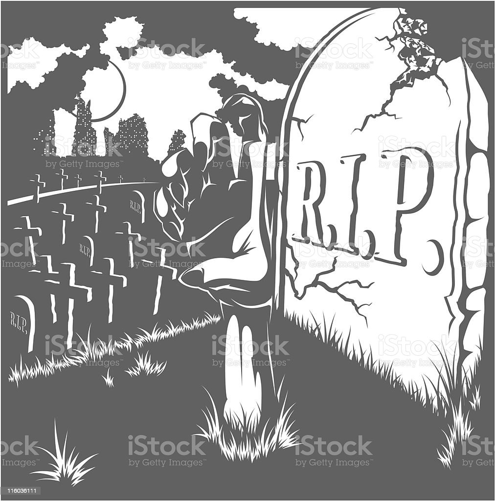 vector grave royalty-free stock vector art