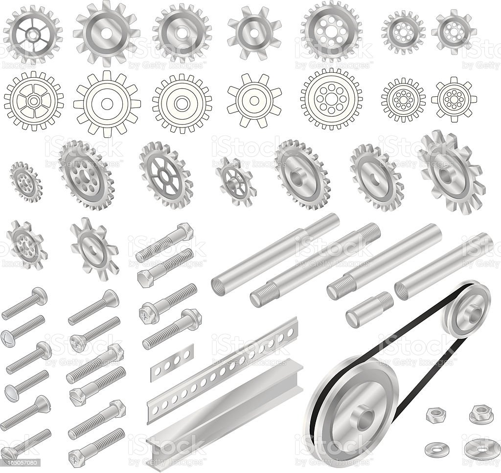 Vector Grears and Things vector art illustration