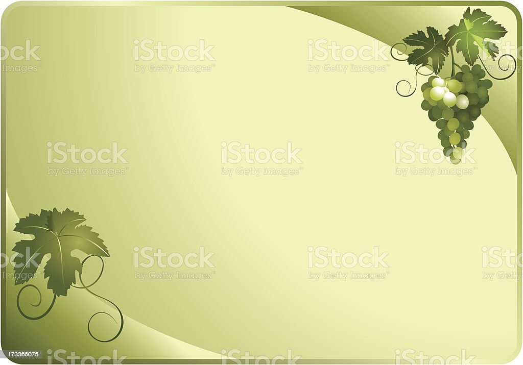 vector green card with grapes royalty-free stock vector art