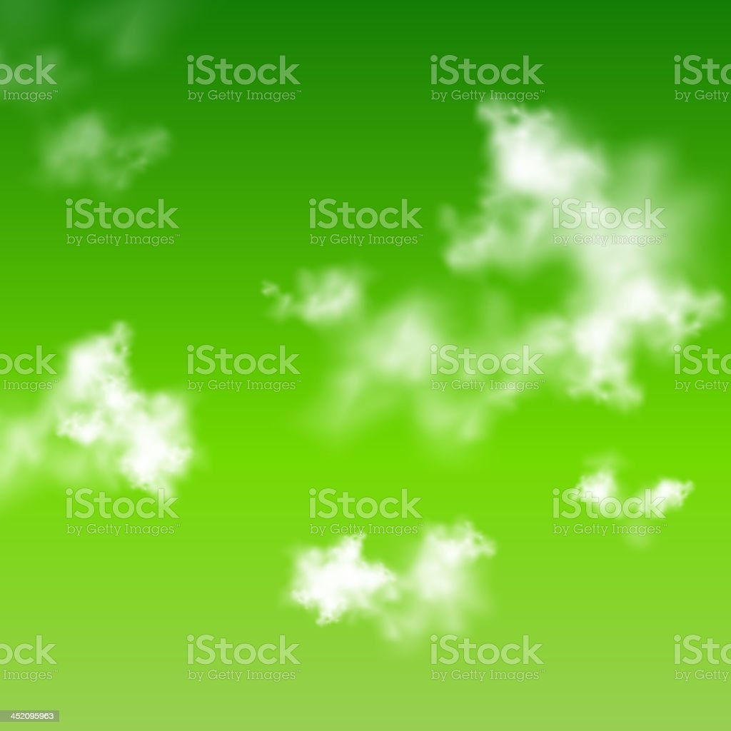 Vector green clouds background royalty-free stock vector art