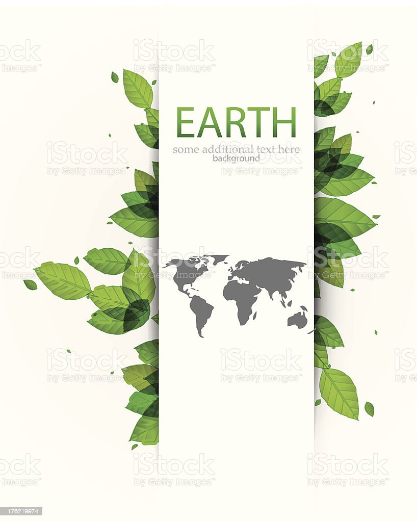 Vector green Earth background vector art illustration
