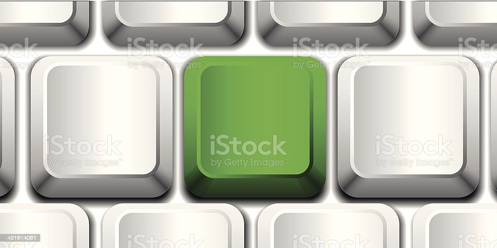 Vector green key royalty-free stock vector art