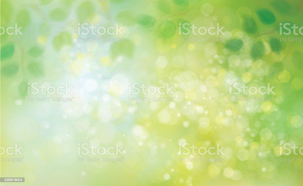 Vector green leaves  background. vector art illustration