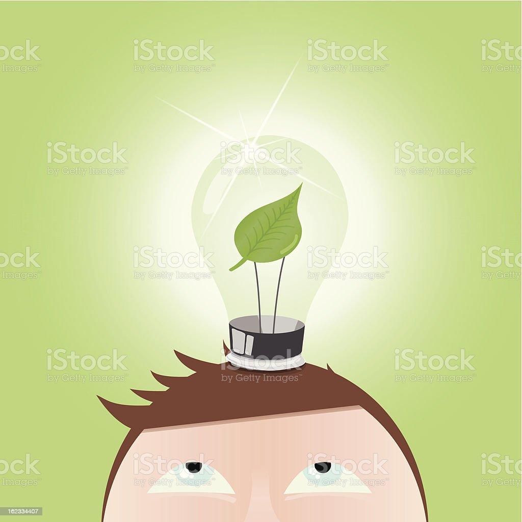 Vector Green Light Bulb royalty-free stock vector art