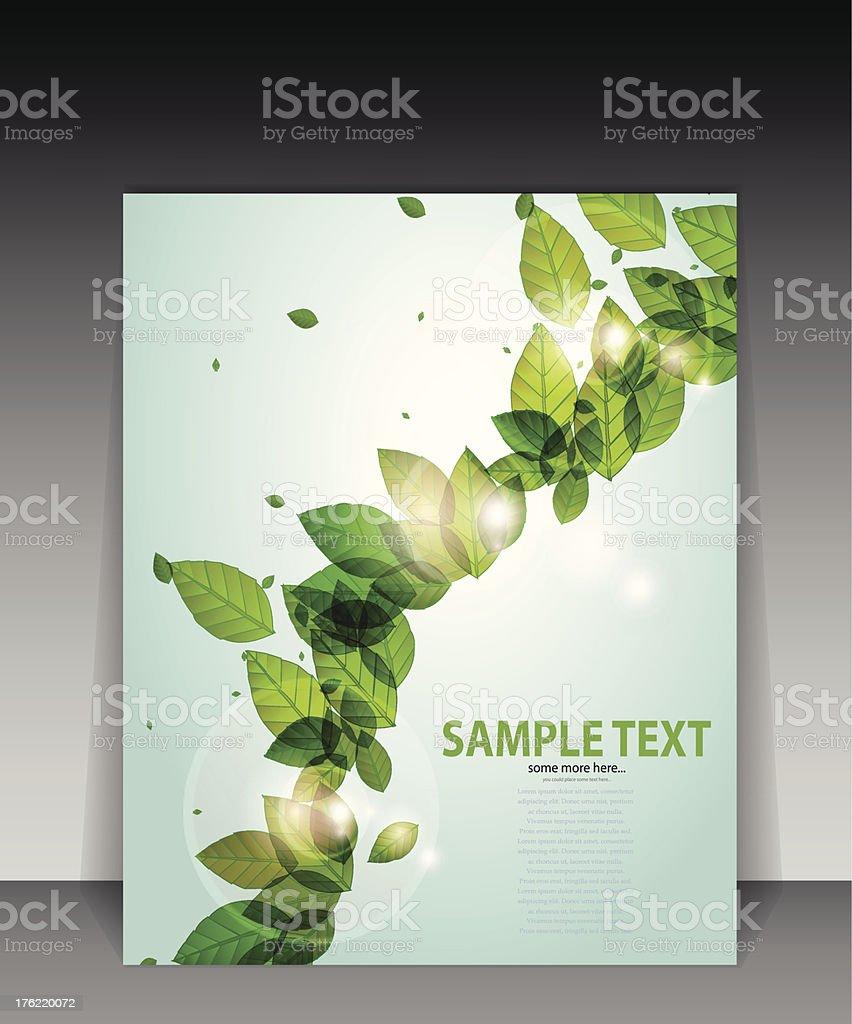 Vector green nature flyer vector art illustration