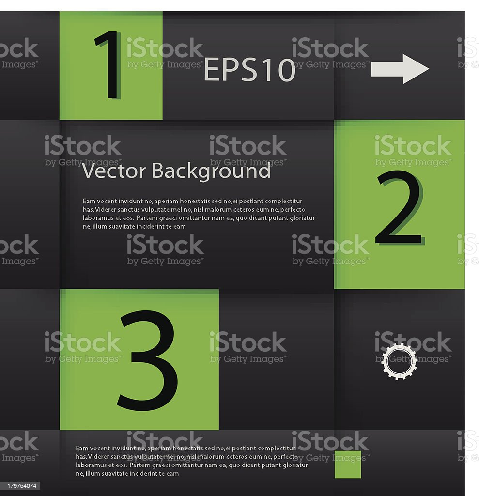 Vector green numbers royalty-free stock vector art