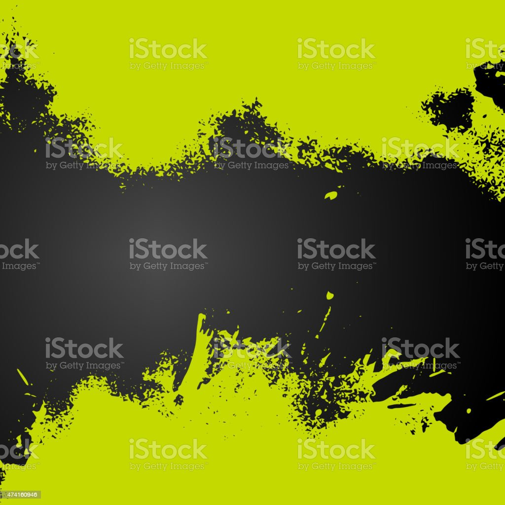 Vector green paint splash frame background vector art illustration