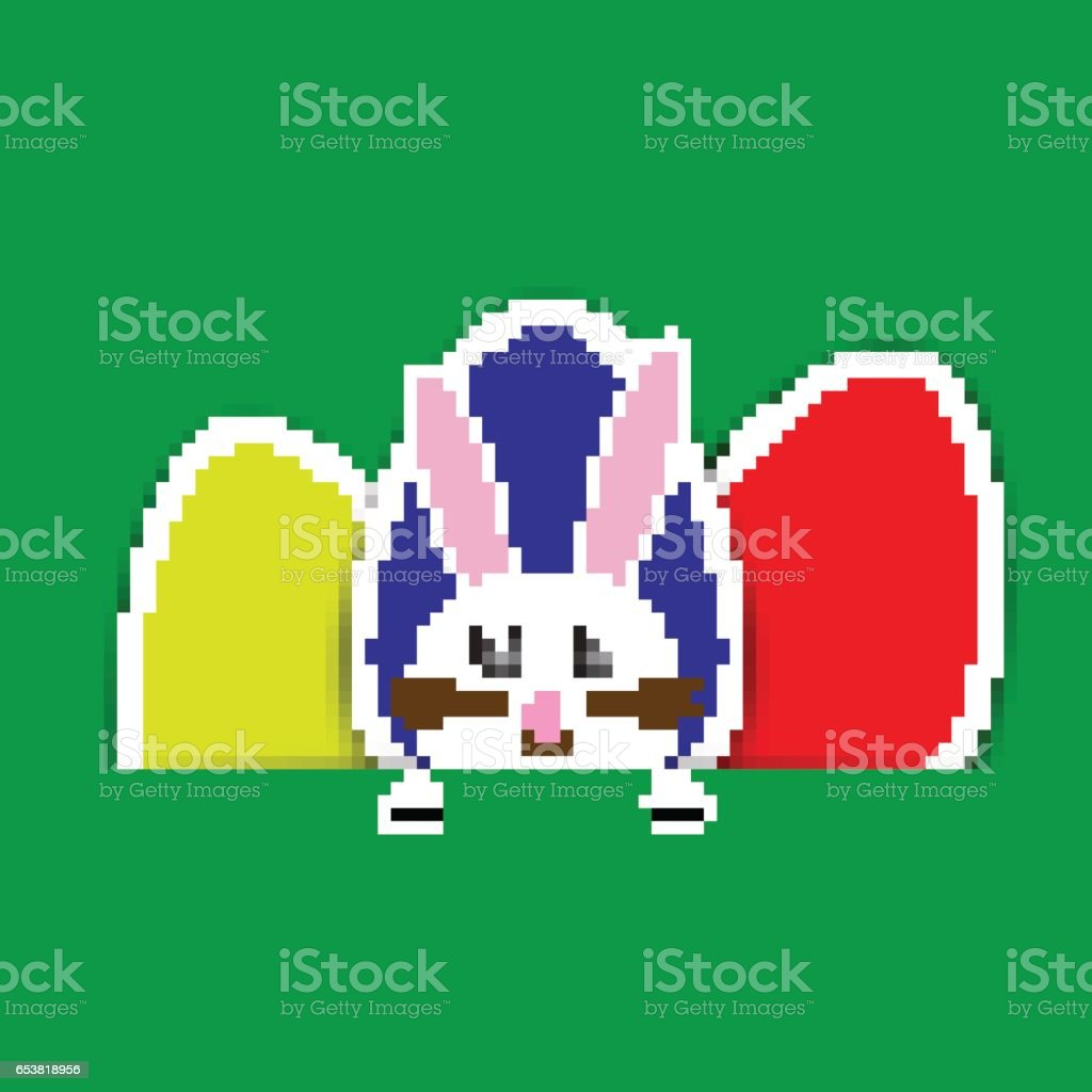 Vector green Paper easter egg card vector art illustration