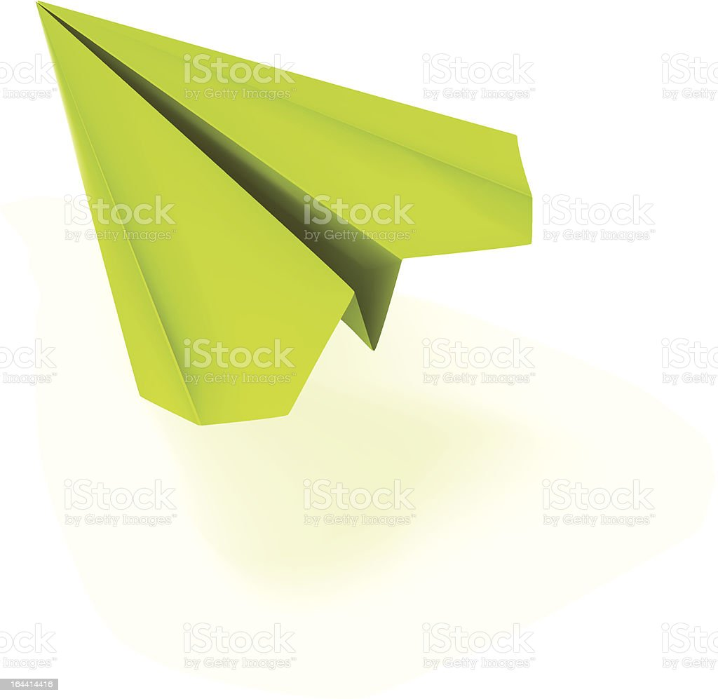 vector green paper plane royalty-free stock vector art