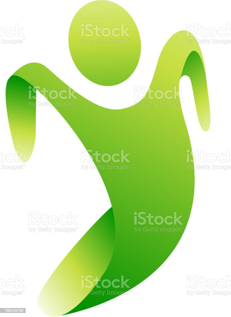 Vector green person royalty-free stock vector art