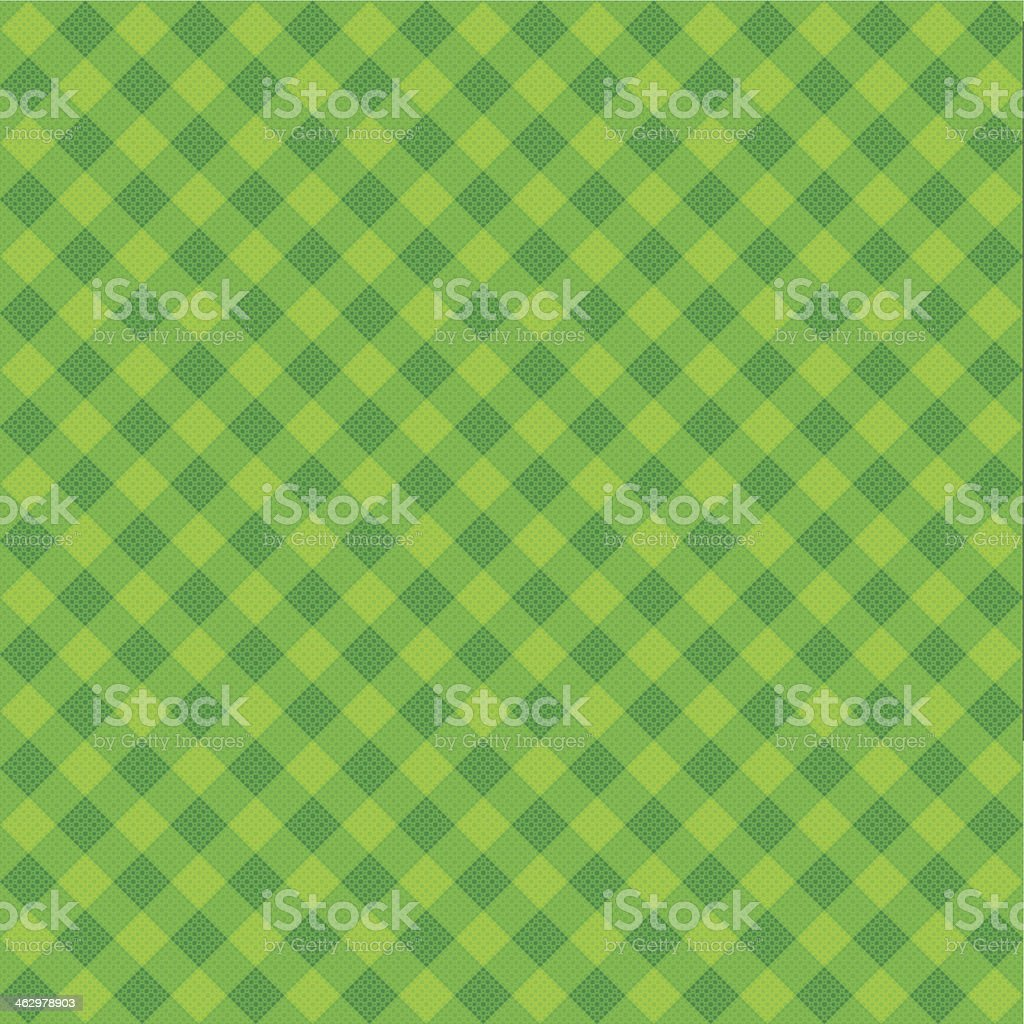 Vector Green Plaid Fabric background textured vector art illustration