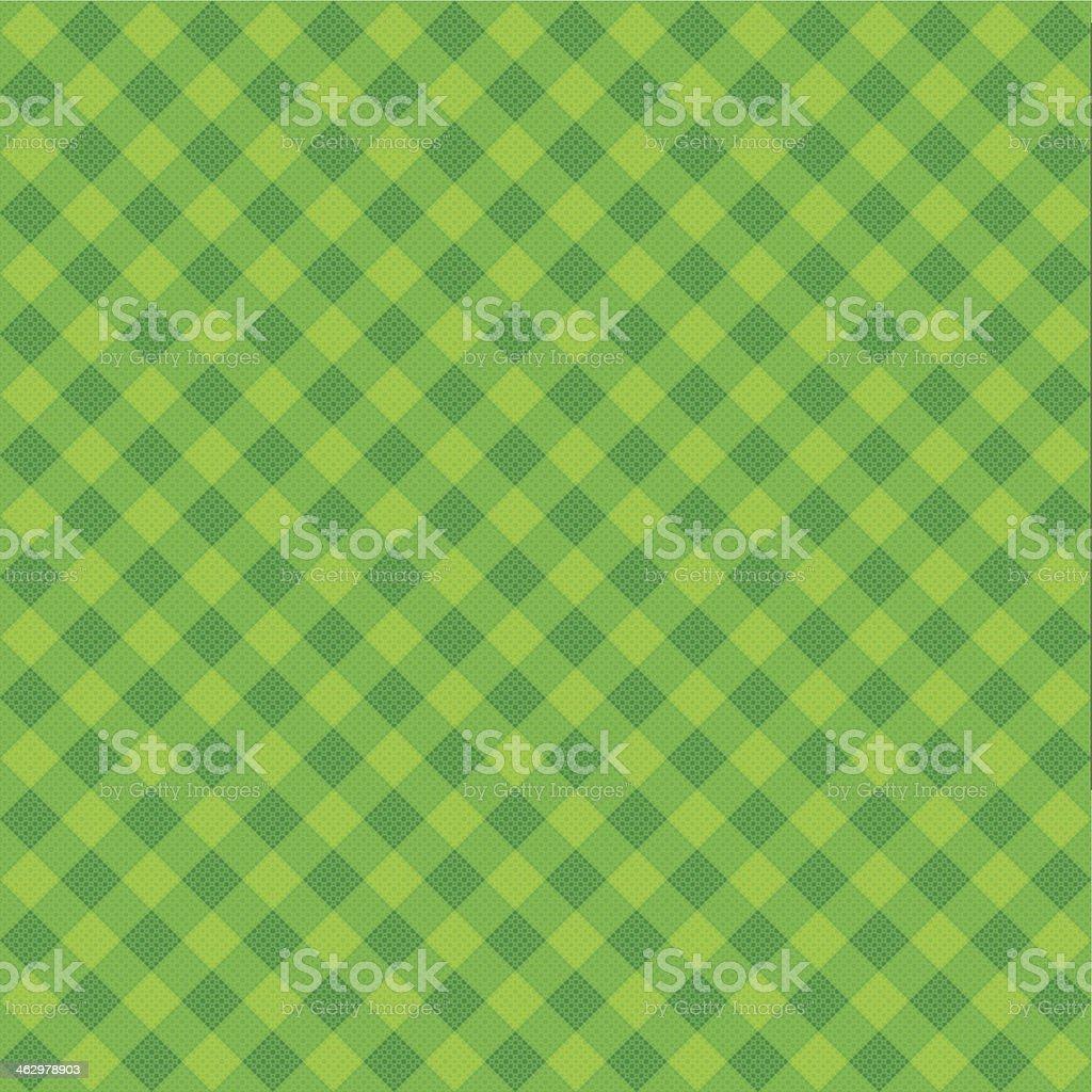 Vector Green Plaid Fabric background textured vector art illustration