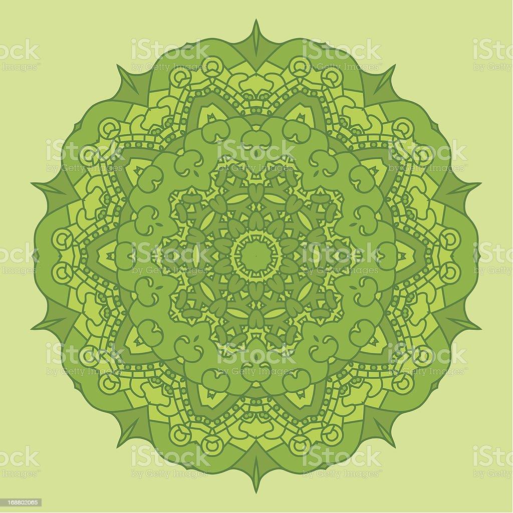 Vector Green Round Decorative Design Element royalty-free stock vector art
