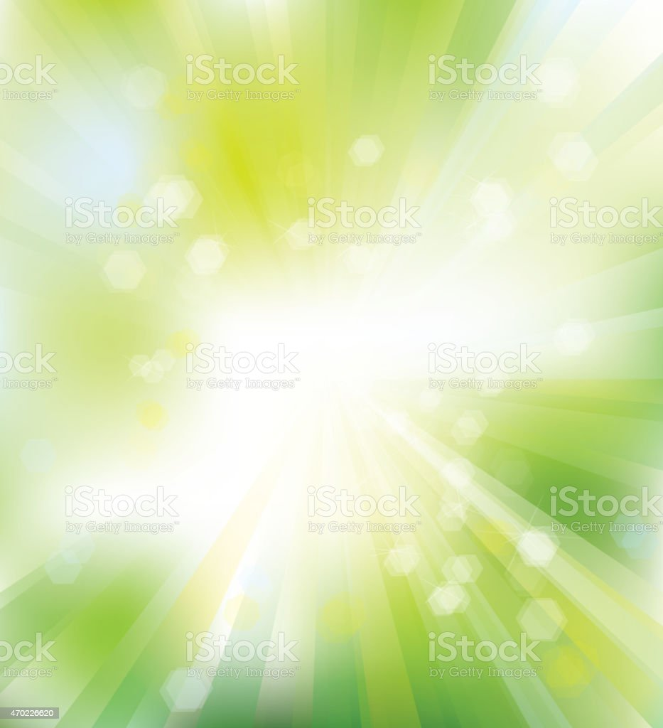 Vector green, shine background. vector art illustration