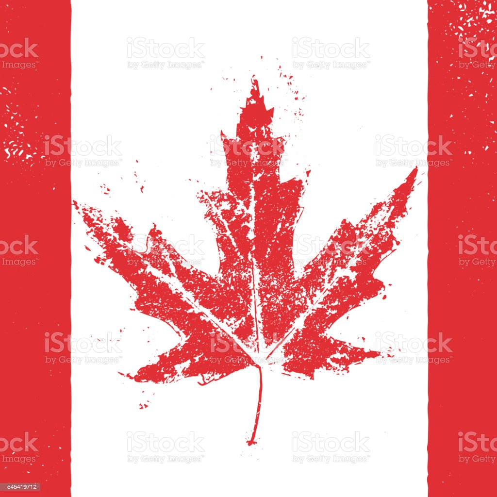 Vector greeting card for Canada Day. vector art illustration
