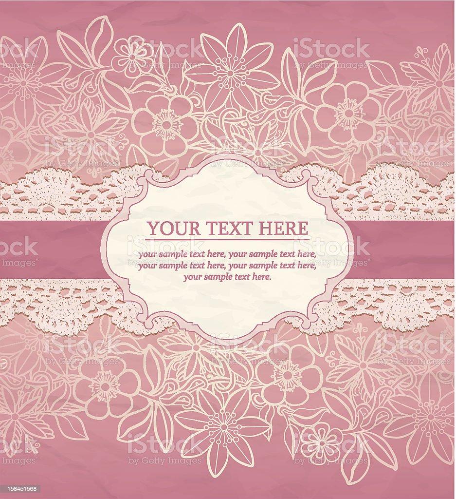 Vector greeting card, invitation template vector art illustration