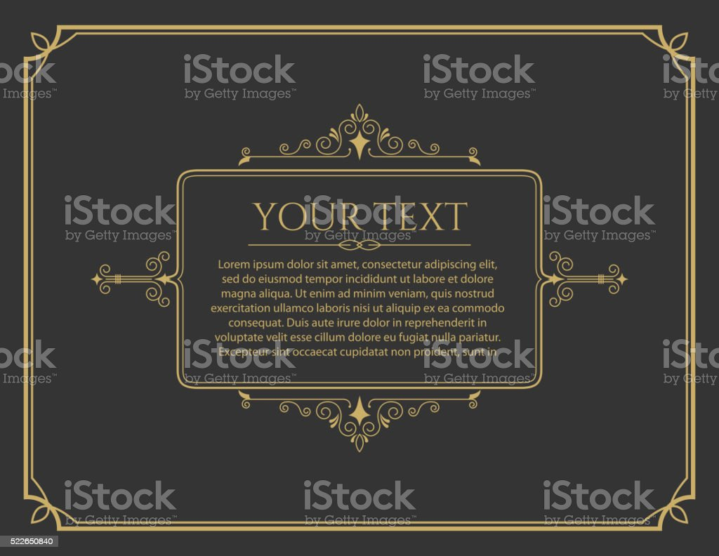 Vector greeting card template. Vintage greeting card template. vector art illustration