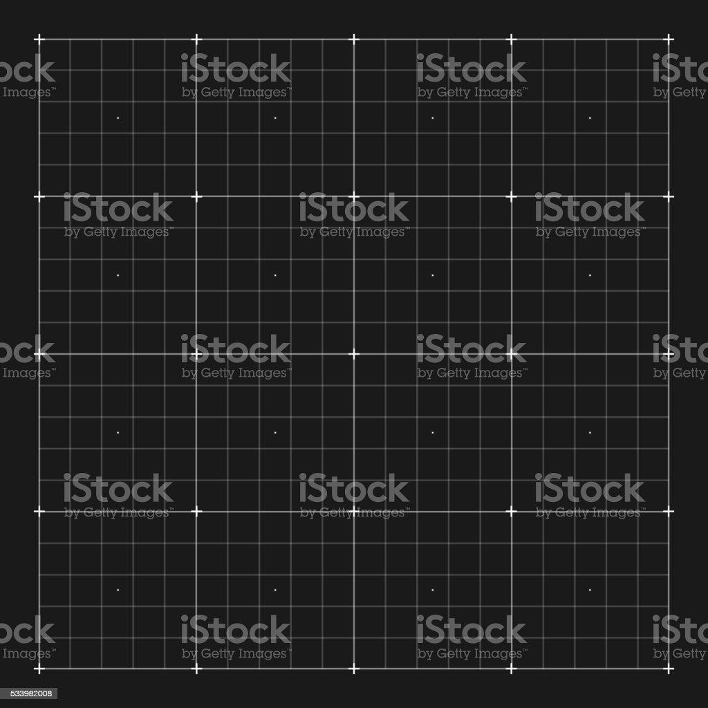 Vector grid marking for user HUD interface vector art illustration