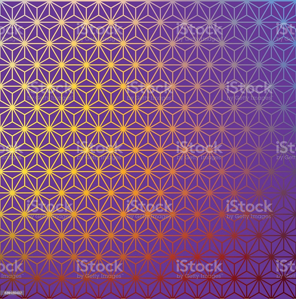 vector grid pattern of triangles on color gradient background. vector art illustration